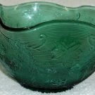 Tiara Glass Sandwich Spruce Green Salad/Fruit Bowl
