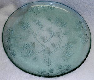 Tiara Ponderosa Pine Cake Plate or Platter - Spearmint Color