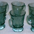 Tiara Ponderosa Pine Mugs in Spearmint Green Set of 6