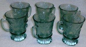 Tiara Ponderosa Pine Mugs in Spearmint Green Set of 6