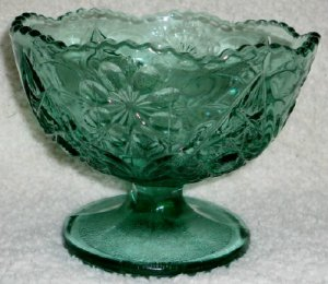 Teal Compote  Signed