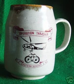 RHODESIA BEERMUG:   OPERATION THRASHER