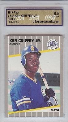 1989 Fleer Ken Griffey JR USA 9.5 rookie card