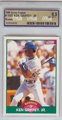 1989 Score Traded Ken Griffey JR USA 8.5 rookie card