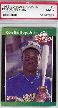 1989 Donruss Rookies Ken Griffey JR PSA 7 rookie card