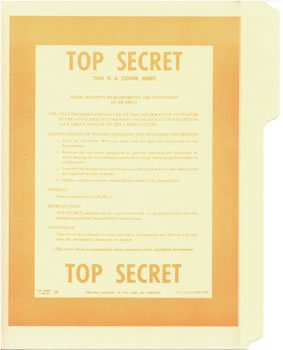 Government Top Secret Special File Folders - NEW