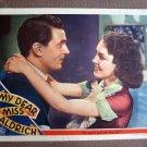 CA36 My Dear Miss Aldrich MAUREEN OSULLIVAN orig 1937 Lobby Card