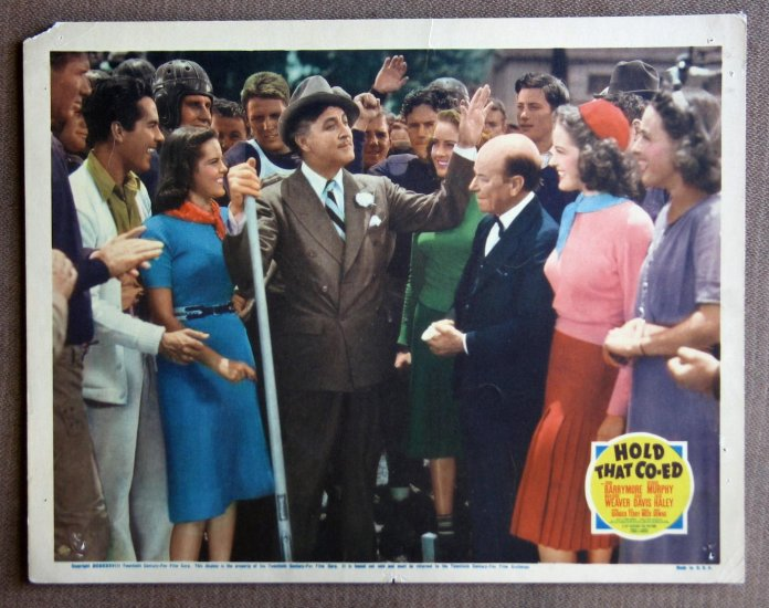 CC17 Hold That Co-Ed JOHN BARRYMORE Orig 1938 Lobby Card
