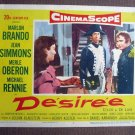 CA13 Desiree MARLON BRANDO and JEAN SIMMONS orig 1954 LC