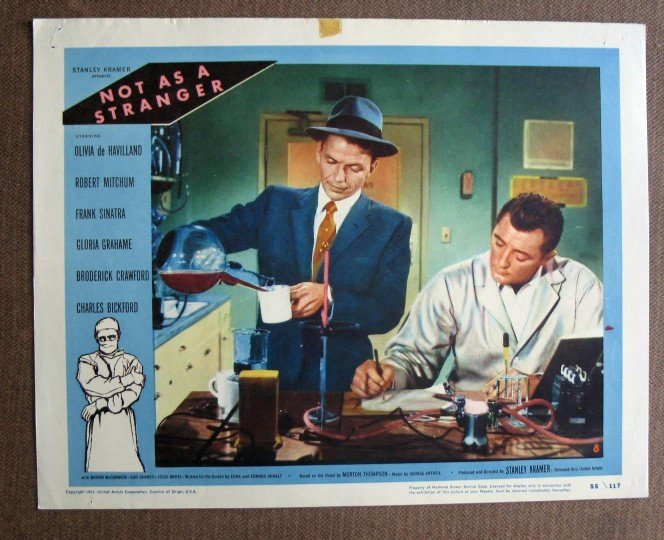 CA39 Not As A Stranger FRANK SINATRA and ROBERT MITCHUM 1955 LC