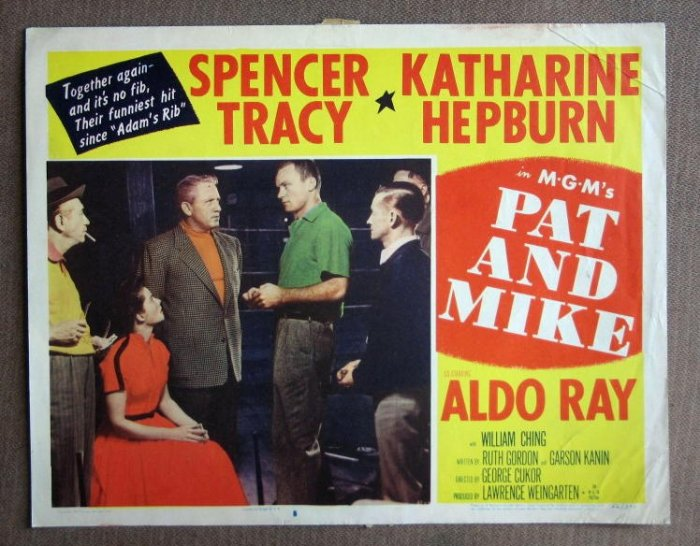 CE37 Pat & Mike KATHARINE HEPBURN and SPENCER TRACY 1952 Lobby Card