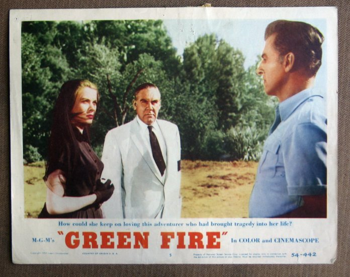 CC13 Green Fire GRACE KELLYand STEWART GRANGER orig 1954 lobby card