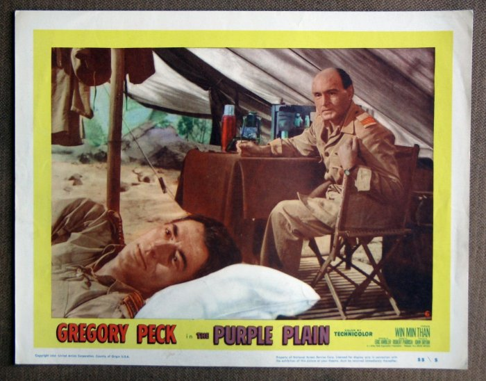 CC33 Purple Plain GREGORY PECK Original 1955 Lobby Card