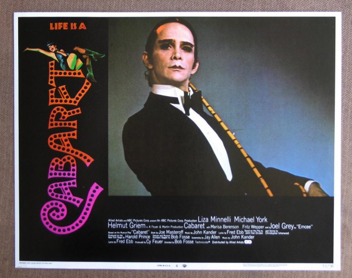 CC03 CABARET Joel Grey Original 1972 lobby card