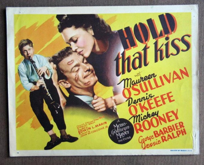CD26 Hold That Kiss MICKEY ROONEY 1938 terrific original TC