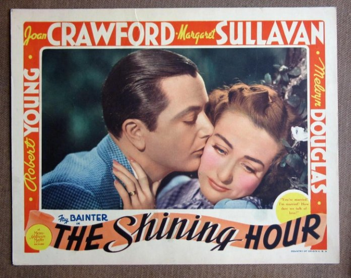 CI34 Shining Hour JOAN CRAWFORD 1938 GREAT close-up original lobby card