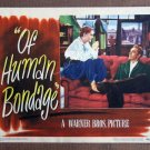 CD27 Of Human Bondage PAUL HENREID  1946 Lobby Card