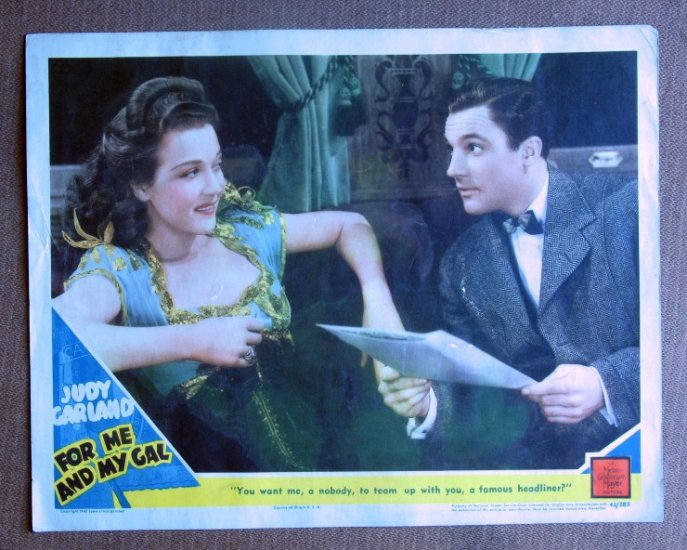CF16A For Me & My Gal   GENE KELLY and MARTA EGGERTH original 1942 lobby card