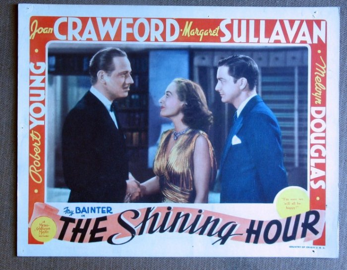 CF34 Shining Hour JOAN CRAWFORD Orig 1938 Lobby Card