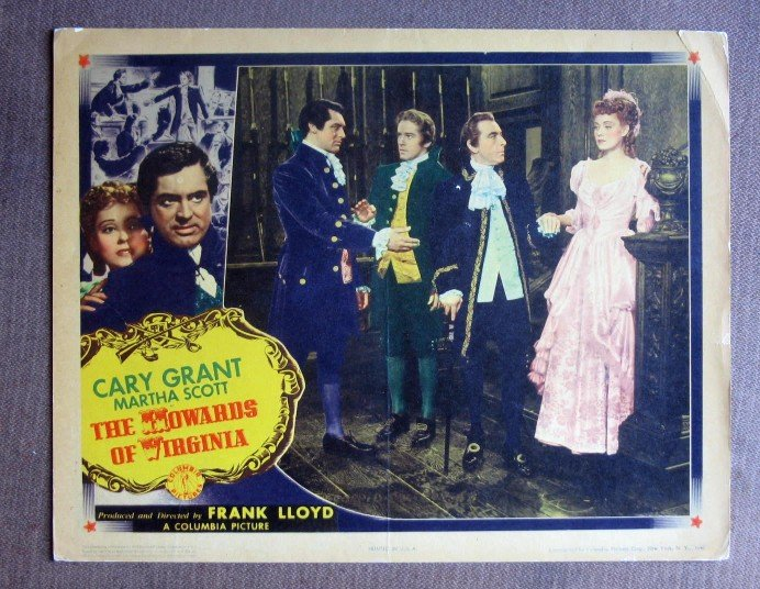 CG22 Howards Of Virginia CARY GRANT Orig 1940 Lobby Card