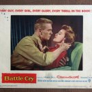 CD04 Battle Cry TAB HUNTER and NANCY OLSON close-up original 1955 lobby card