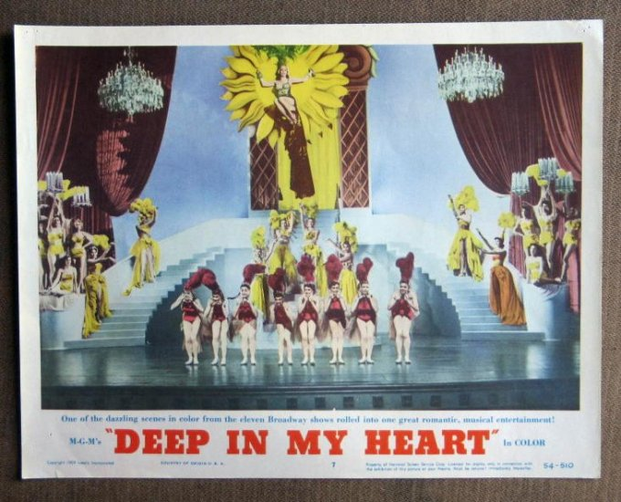 CD21 Deep In My Heart MERLE OBERON and JOSE FERRER original 1954 lobby card