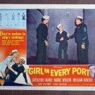 CD24 Girl In Every Port GROUCHO MARX 1952 original lobby card