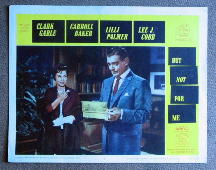 CF06 But Not For Me  CLARK GABLE and LILLI PALMER original 1959 lobby card