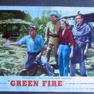 CF17 Green Fire GRACE KELLY and STEWART GRANGER original 1954 lobby card