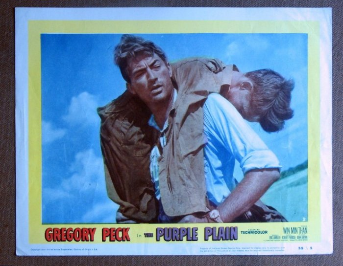 CF30 Purple Plain GREGORY PECK 1955 Portrait Lobby Card