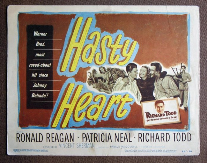CI14 Hasty Heart RONALD REAGAN original 1950  Title Card