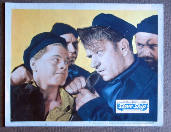 CF35 Slave Ship MICKEY ROONEY 1948 PORTRAIT Lobby Card