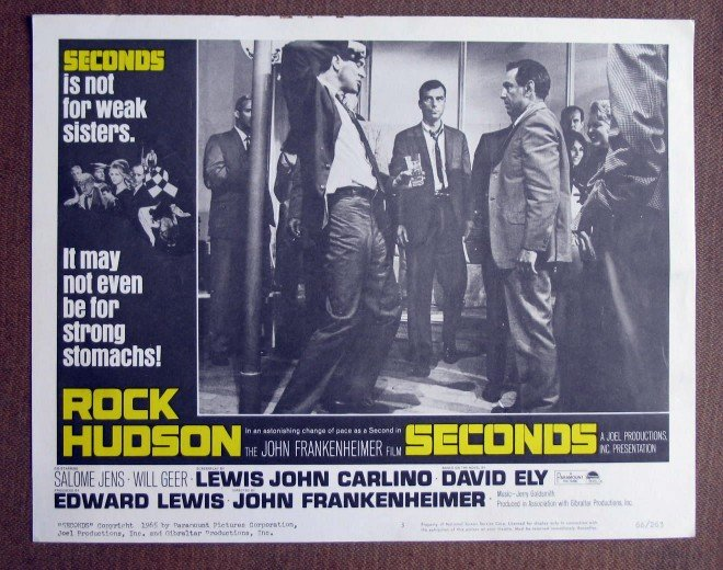 CH40 Seconds ROCK HUDSON Original 1966 Lobby Card