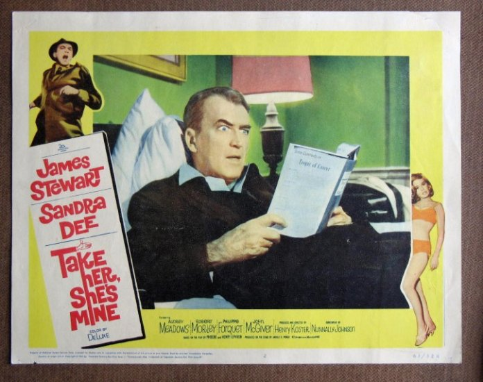 CI39 Take Her, She's Mine JAMES STEWART 1963 Lobby Card