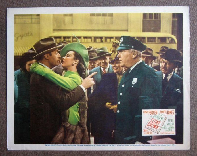 CJ08 Cluny Brown JENNIFER JONES & CHARLES BOYER Original 1941 Title Card