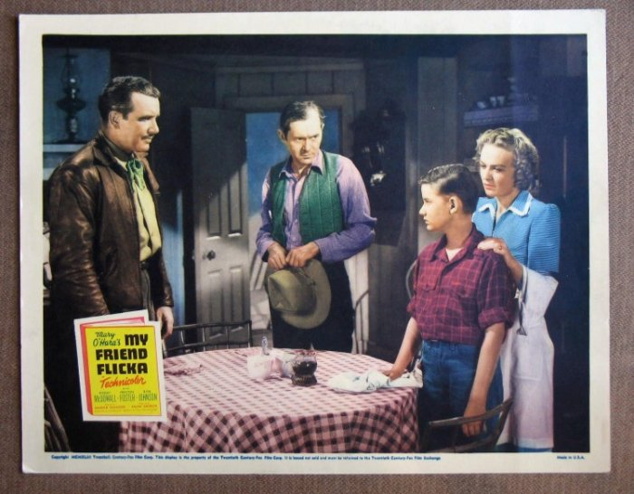CJ31 My Friend Flicka RODDY McDOWALL Original 1943 Lobby Card