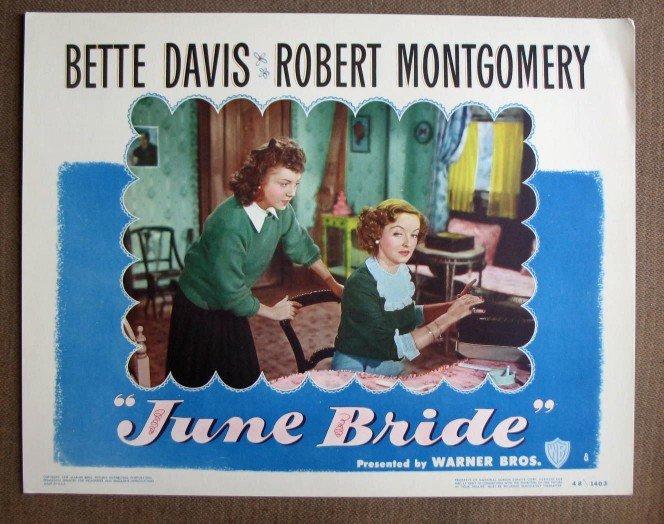 CL25 June Bride BETTE DAVIS   Original 1948 Lobby Card