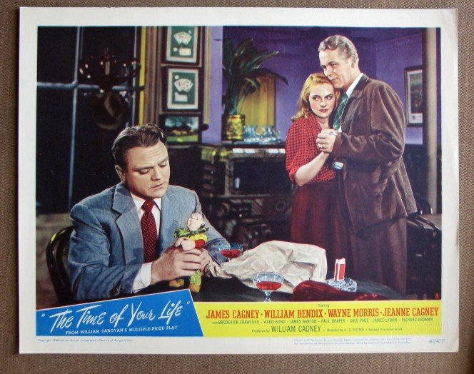 CL47 Time Of Your Life JAMES CAGNEY Original 1947 Lobby Card
