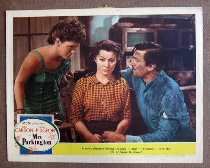 CM32 Mrs Parkington GREER GARSON & WALTER  PIDGEON  Original 1944 Lobby Card