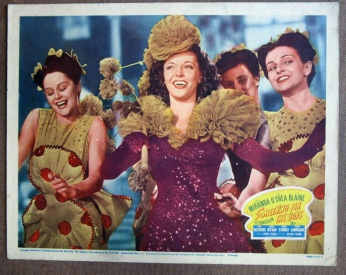 CM41 Something For The Boys VIVIAN BLAINE Original 1944 Lobby Card