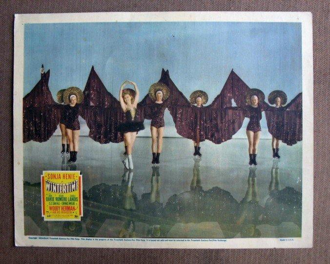 CN52 Wintertime SONJA HENIE   Original 1943 Lobby Card