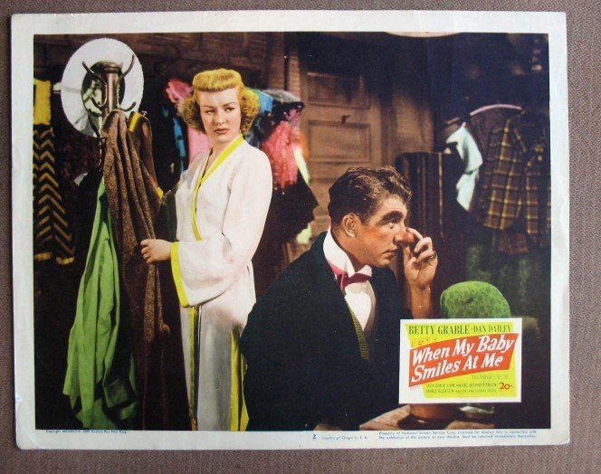 CO47 When My Baby Smiles  At Me BETTY GRABLE & DAN DAILEY   Original 1948 Lobby Card