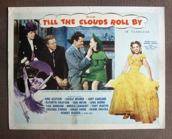 CQ46 Till Clouds Roll By ANGELA LANSBURY 1946  Original Lobby Card
