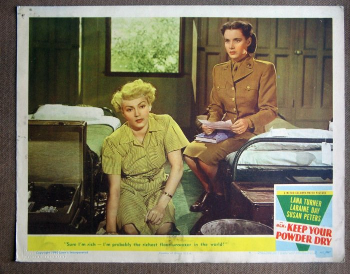 CR27 Keep Your Powder Dry LANA TURNER 1945 Lobby Card