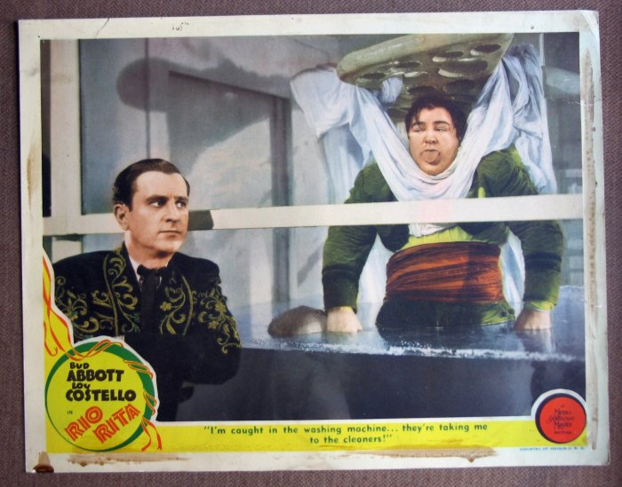CR40 Rio Rita BUD ABBOTT & LOU COSTELLO 1942 Lobby Card