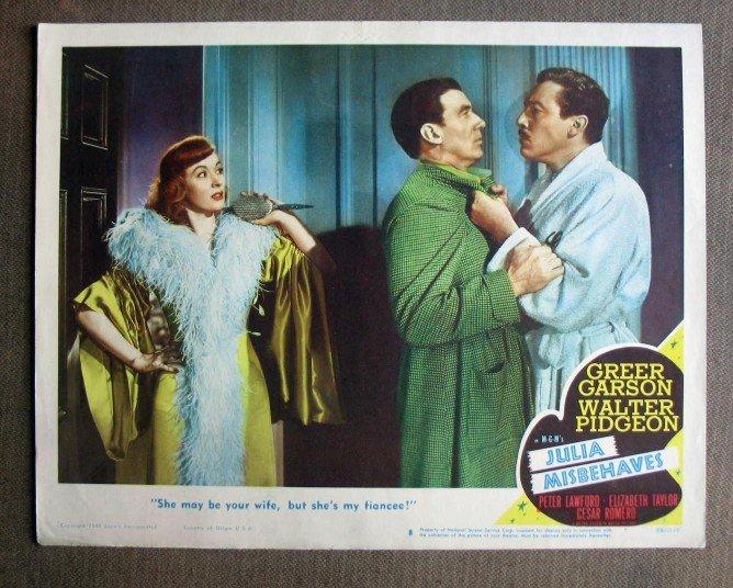 CS29 Julia Misbehaves GREER GARSON  Original 1948 Lobby Card