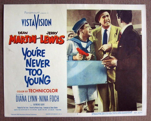 CK44 You're Never Too Young JERRY LEWIS Lobby Card