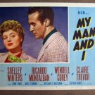 CL35 My Man & I SHELLEY WINTERS Original 1952 Lobby Card