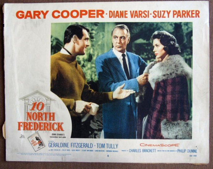 CM45 10 North Frederik GARY COOPER & TOM TULLY 1958 Lobby Card