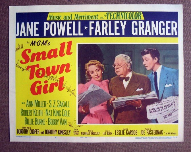 CP38 Small Town Girl   JANE POWELL & FARLEY GRANGER Original 1953 Lobby Card